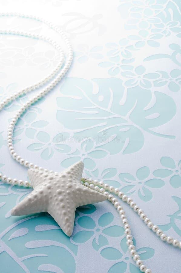 Sjöstjärna och pärlor fotografering för bildbyråer