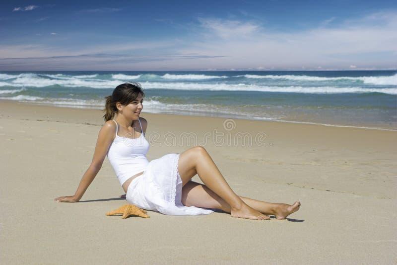sjöstjärnakvinna royaltyfria foton