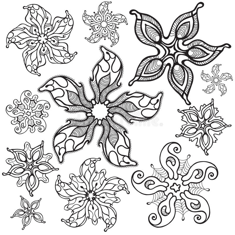 sjöstjärnor royaltyfri illustrationer
