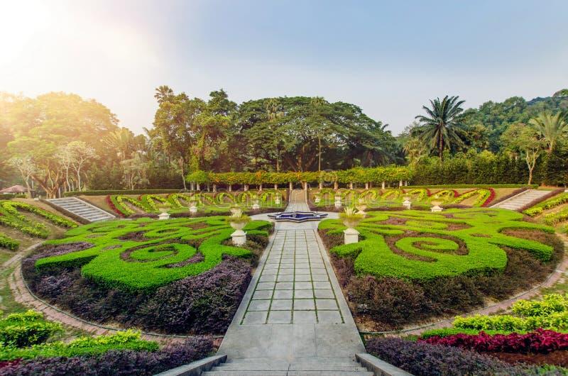 Sjöträdgårdar Kuala Lumpur är bekanta officiellt som Perdana botaniska trädgårdar fotografering för bildbyråer