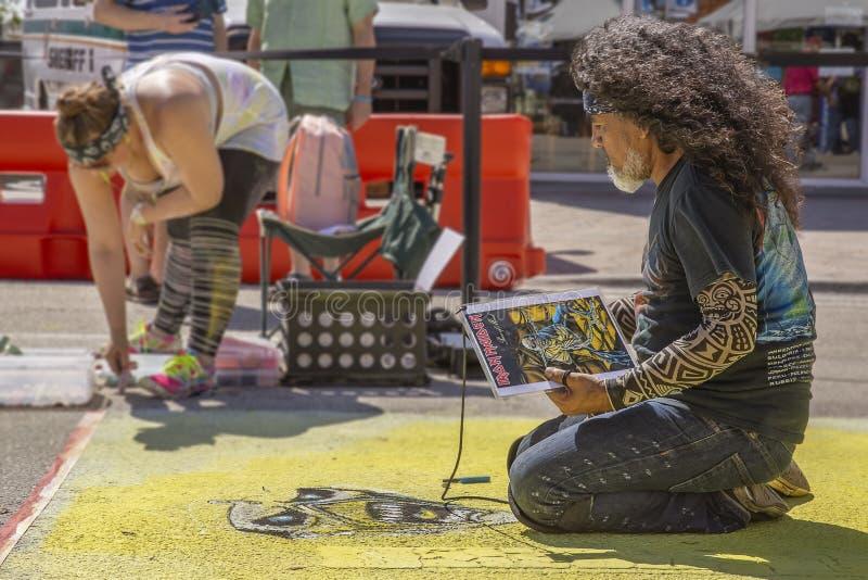 Sjövärde, Florida, USA Fab 23-24, 25Th årliga gata som 2019 målar festen arkivbild