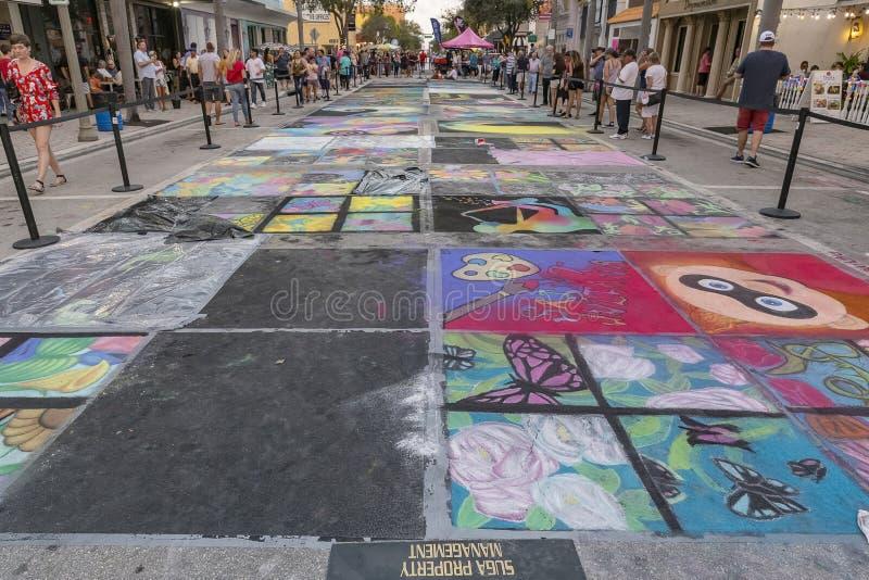 Sjövärde, Florida, USA Fab 23-24, 25Th årliga gata som 2019 målar festival arkivbilder
