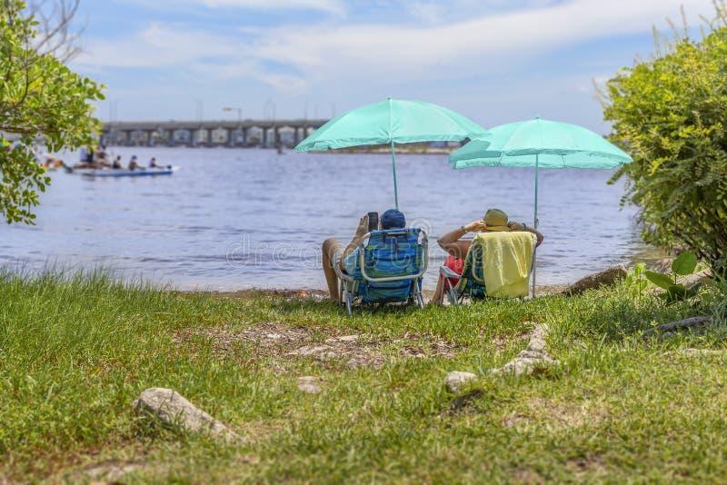 Sjövärde, Florida, USA Juli 4, 2019, 4th av Juli aktiviteter royaltyfri fotografi