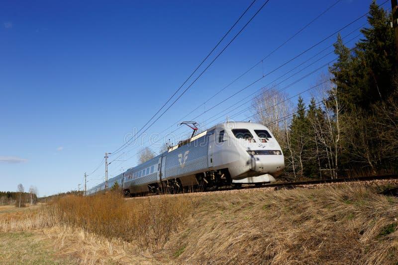 SJ υπηρεσία τραίνων κατηγορίας X2000 στοκ εικόνες