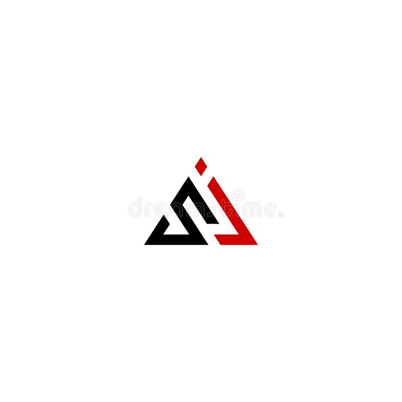 SJ driehoek royalty-vrije stock afbeelding