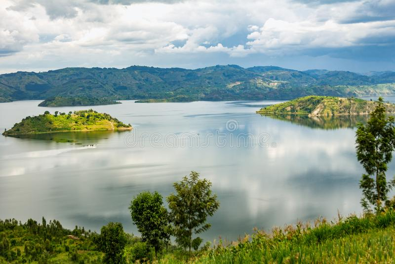 Sj? Kivu i Rwanda royaltyfria foton