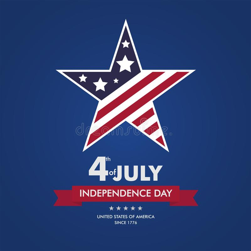Sj?lvst?ndighetsdagen av then juli f?r USA 4 lycklig sj?lvst?ndighet f?r dag vektor illustrationer
