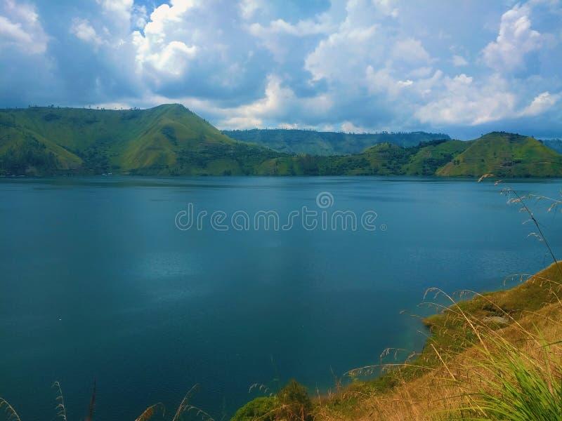 Sj? Toba, norr Sumatra, Indonesien arkivfoton