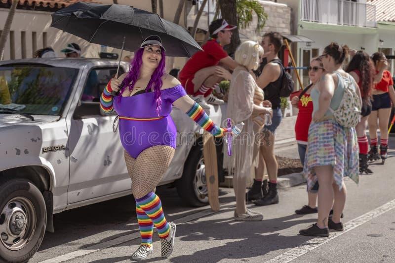 Sj?v?rde, Florida, USA mars 31, 2019 f?r, Palm Beach Pride Parade arkivbilder