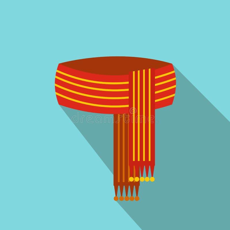 Sjaal vlak pictogram stock illustratie