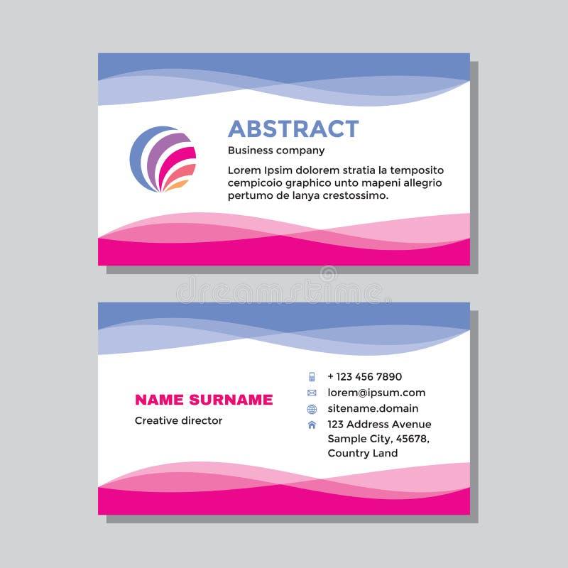 Sjabloon voor visitekaartjes met logo - ontwerp van concept Abstract vormen merken Vectorillustratie vector illustratie