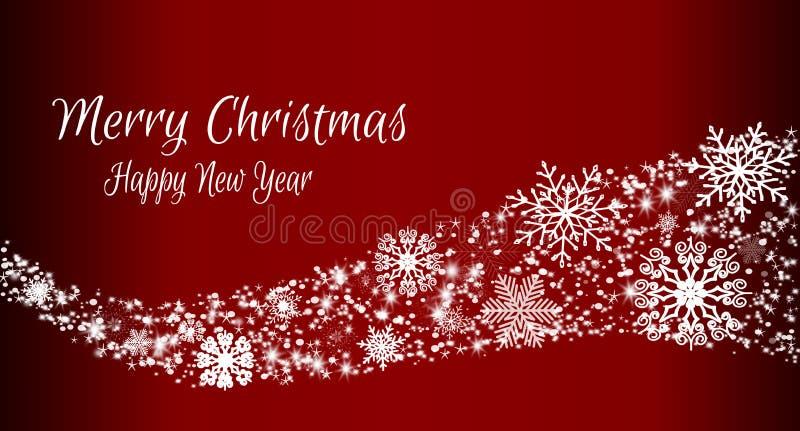 Sjabloon voor wintervakantie met kerstbrief royalty-vrije illustratie