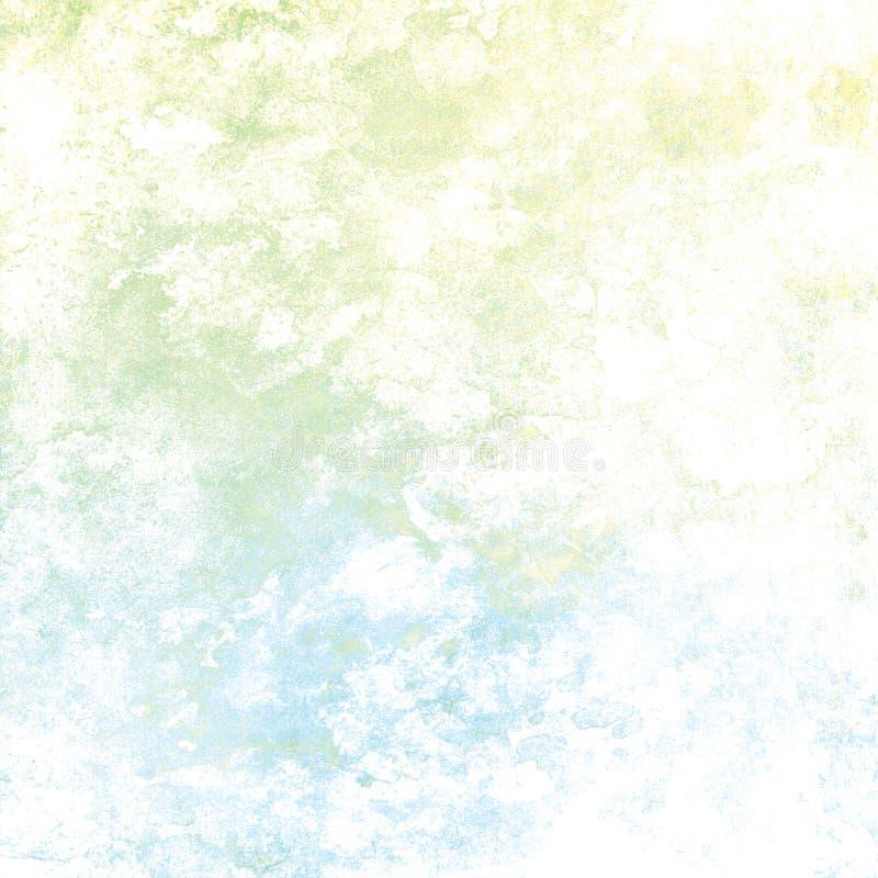 Sjaskig åldrig grön blå kritabakgrund royaltyfri illustrationer