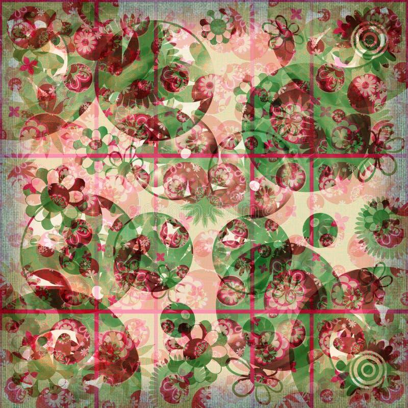 sjaskig blom- frenesi för bakgrund royaltyfri illustrationer