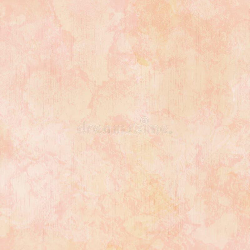 Sjaskig chic textur för bakgrund för abstrakt begrepp för gouacherosa färgguling vektor illustrationer