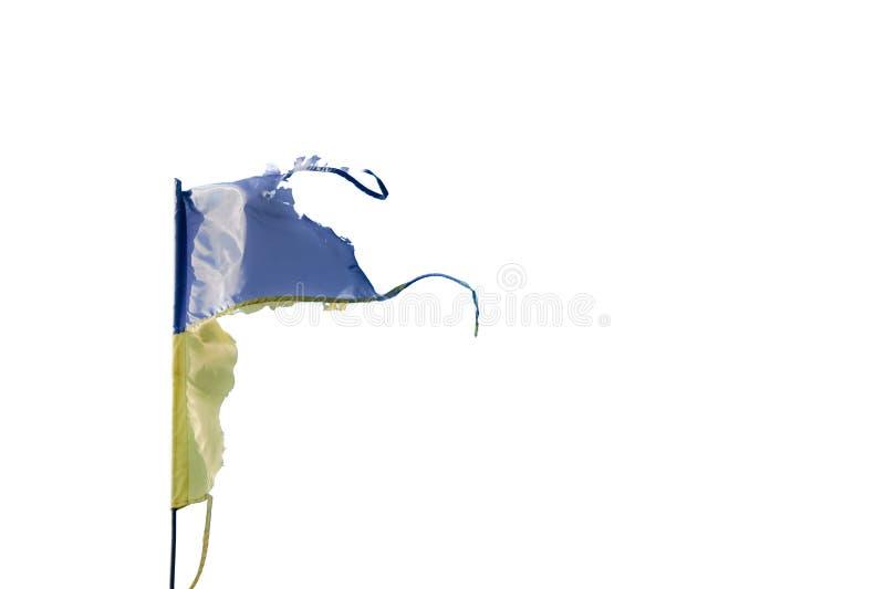 Sjaskig flagga av Ukraina arkivfoton