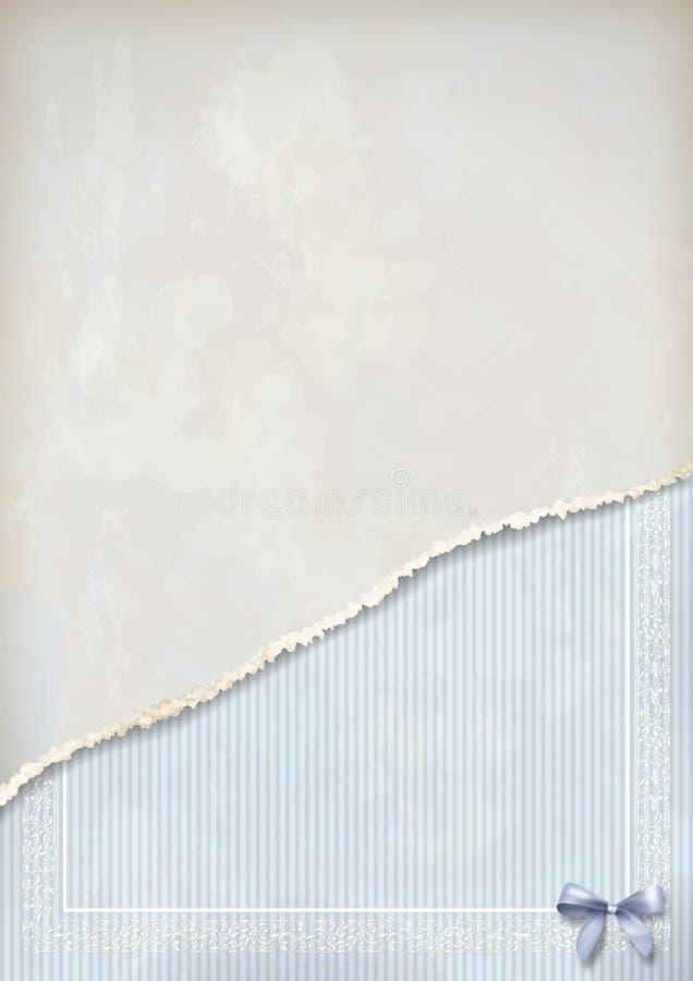 Sjaskig gammal pappers- tappningbakgrund royaltyfri illustrationer