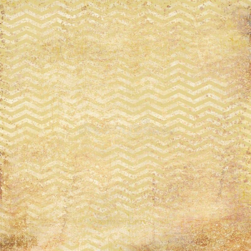 Sjaskig pergamentbakgrund med sicksackmodeller royaltyfri foto