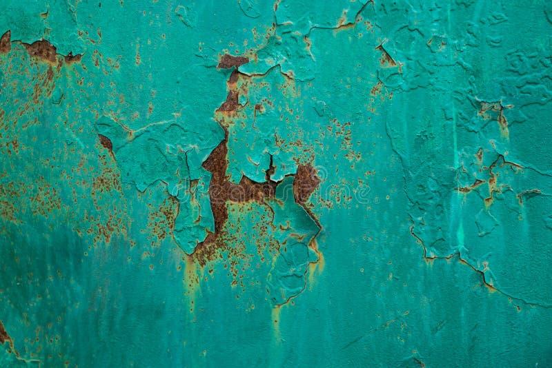 Sjaskig textur med sprucken målarfärg royaltyfri bild