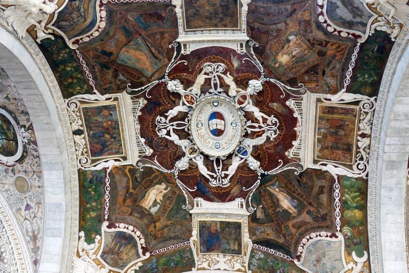 Sjeny Cathedra, Domel wnętrze, Włochy obraz royalty free