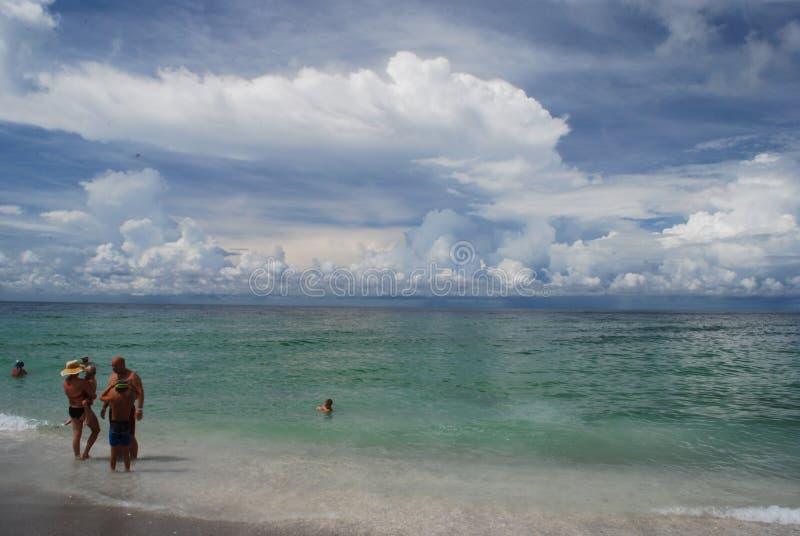 Sjesta klucza plaża w Sarasota Floryda obrazy royalty free