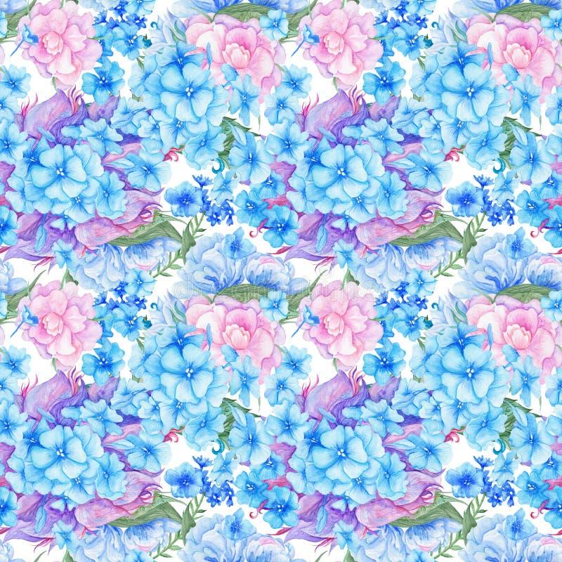 Sjofel Elegant Uitstekend Romantisch Bloemenpatroon stock illustratie