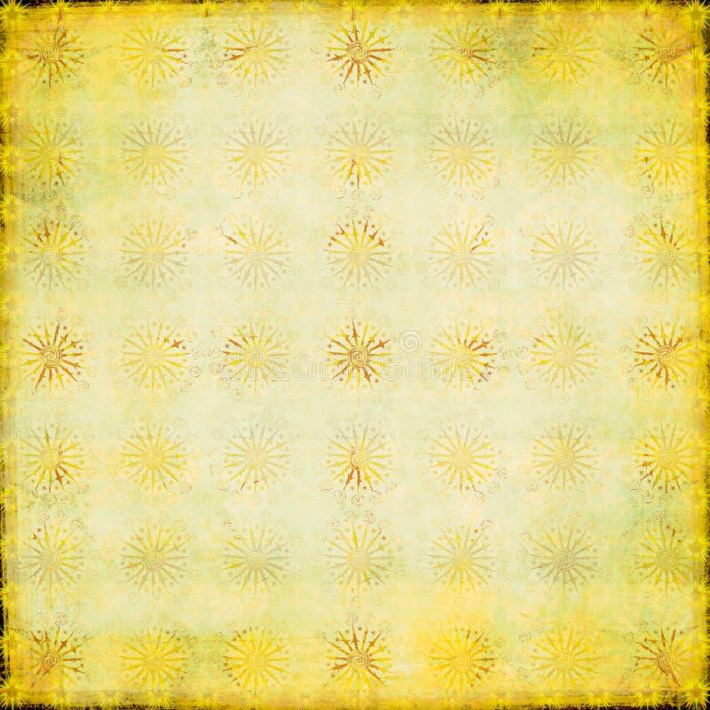 Sjofel starburstpatroon stock illustratie