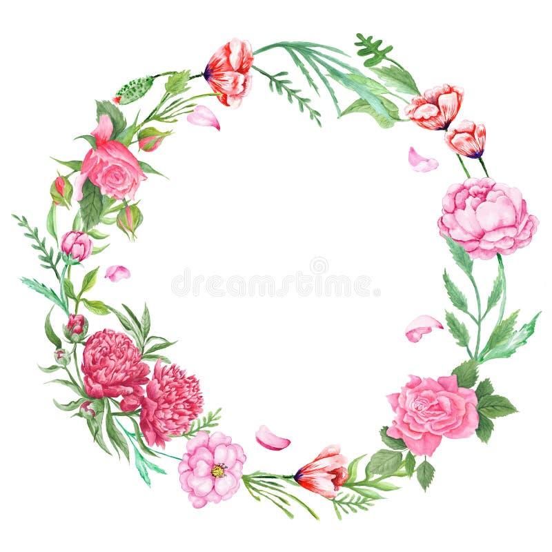 Sjofele Elegante Bloemenkroon royalty-vrije illustratie