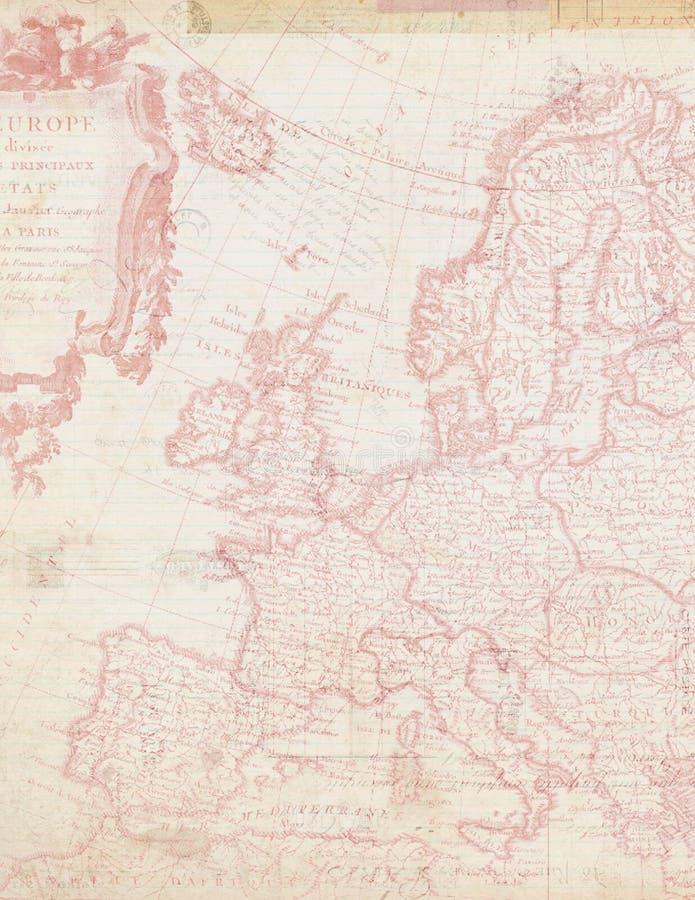 Sjofele Elegante kaart van Europa in Roze royalty-vrije stock afbeelding