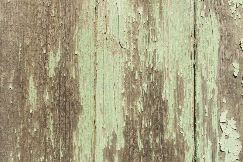 Sjofele lichtgroene houten planken stock foto's