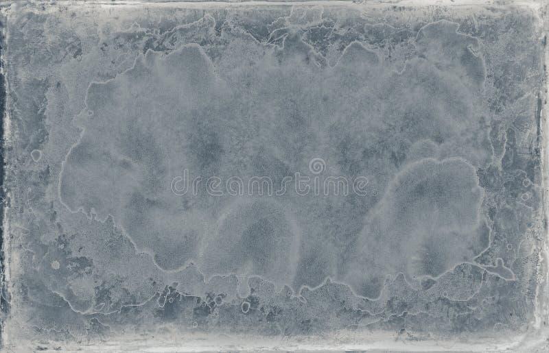 Sjofele oude blauwe het kadertextuur van het grungeontwerp stock foto