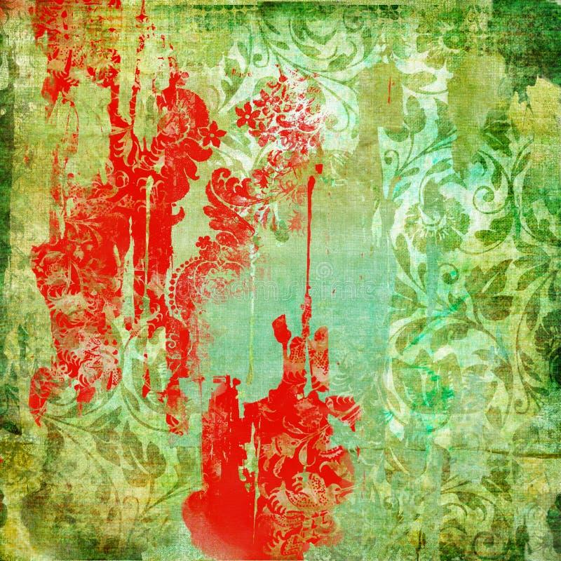 Sjofele rode patronen vector illustratie