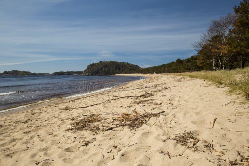 Sjosanden海滩, Mandal,挪威 免版税库存图片