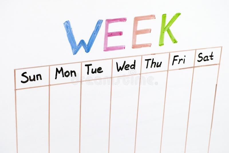 Sju dagar av veckan arkivfoto