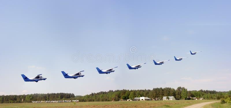 Sju nivåer över aerodromen royaltyfria foton