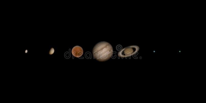 Sju utomjordiska planeter fotografering för bildbyråer