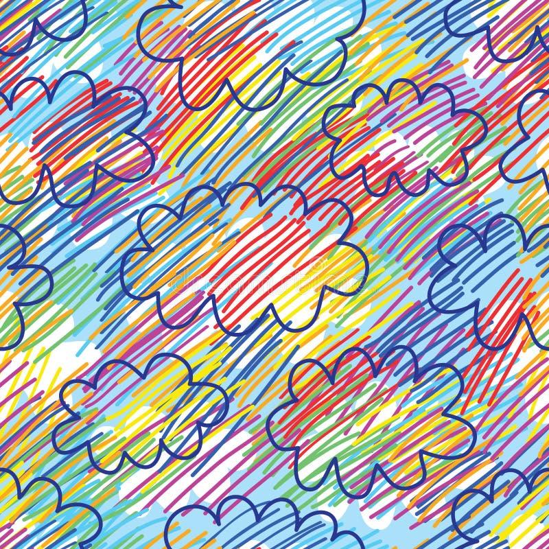 Sjuk mer sömlös modell för himmel inte vektor illustrationer