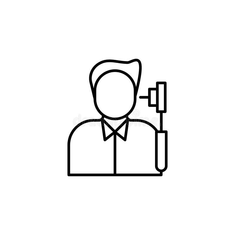 Sjukdomar ett öra, kontrollvektor Muskelknip, förkylning och bronkit, lunginflammation och feber, vård- medicinsk illustration -  stock illustrationer
