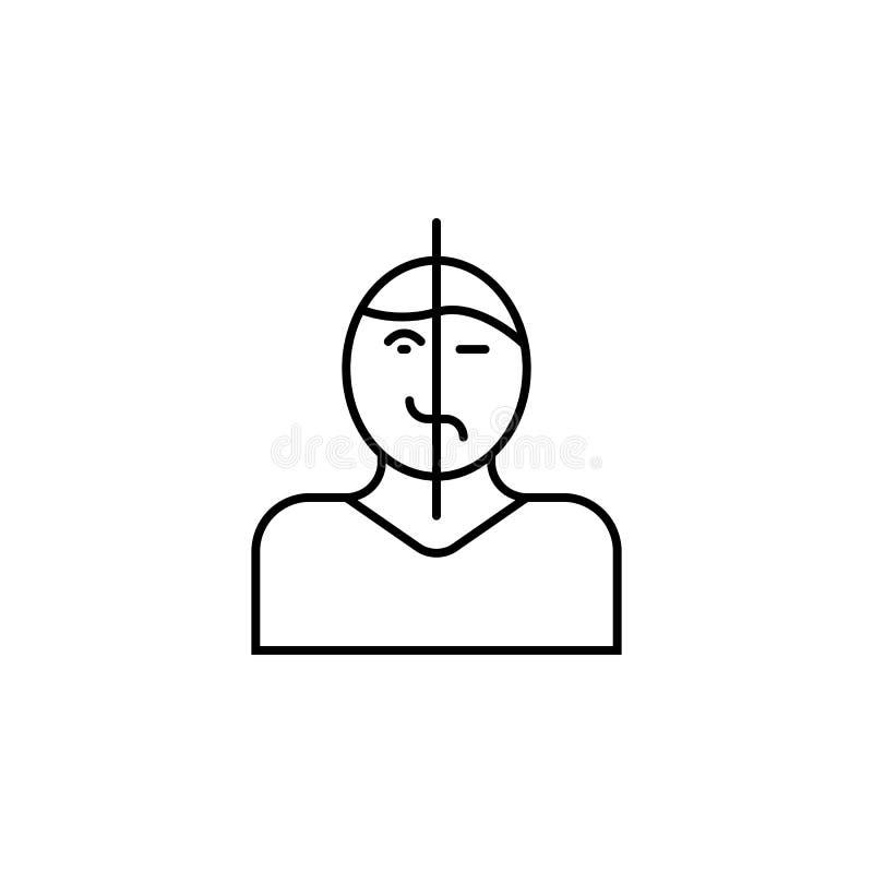 Sjukdomar studie, patient Muskelknip, förkylning och bronkit, lunginflammation och feber, vård- medicinsk illustration - vektor royaltyfri illustrationer