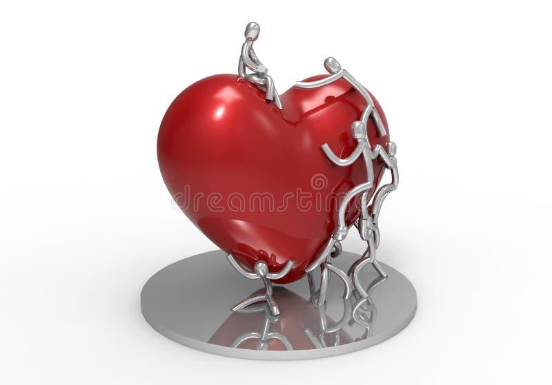 Sjukförsäkring eller förälskelsebegrepp stock illustrationer