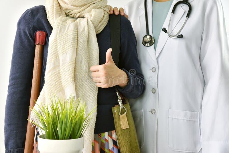 Sjukförsäkringolycksreklamation, patient för doktorsservice royaltyfri fotografi