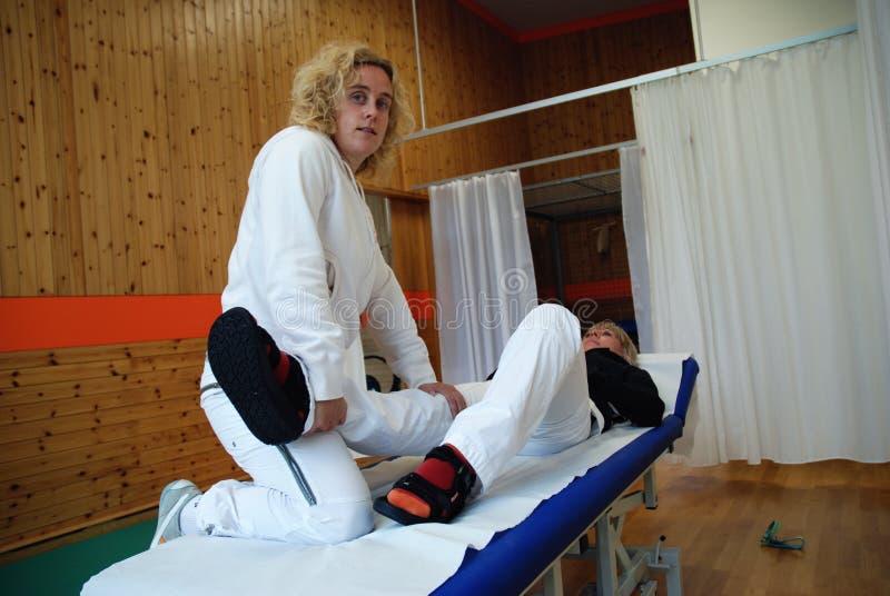 sjukgymnastik arkivbild