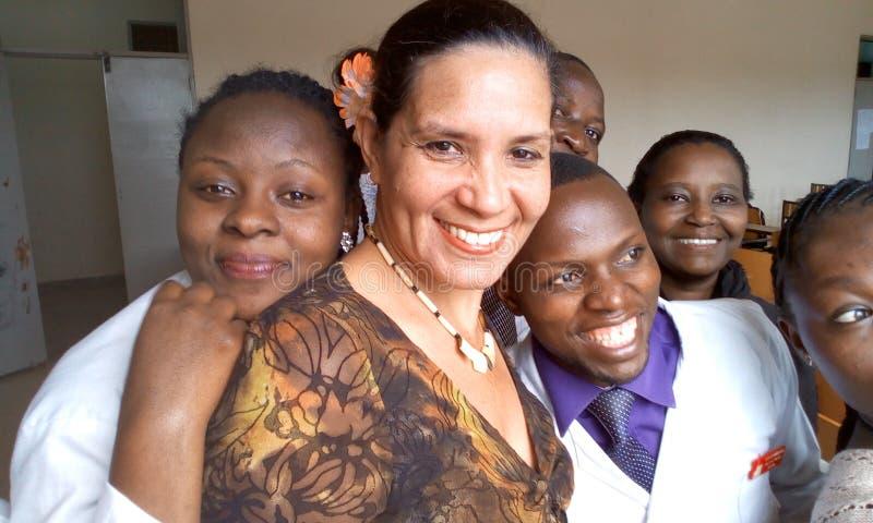 Sjukhus för Kampala internationell universitetundervisning och resesarch royaltyfri foto