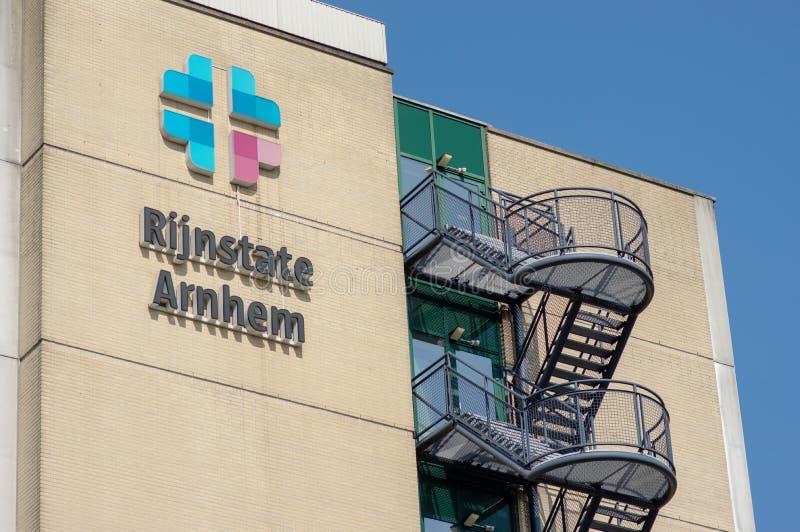 Sjukhus Rijnstate i Arnhem, Nederländerna royaltyfria bilder
