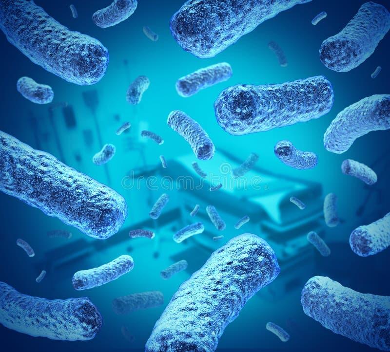 Sjukhusbakterier vektor illustrationer