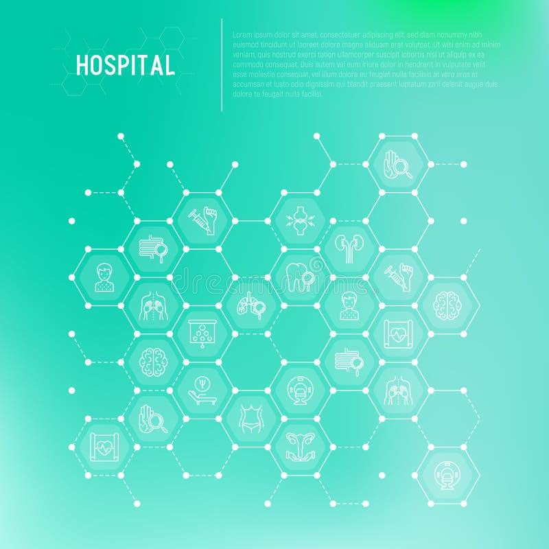 Sjukhusbegrepp i honungskakor royaltyfri illustrationer