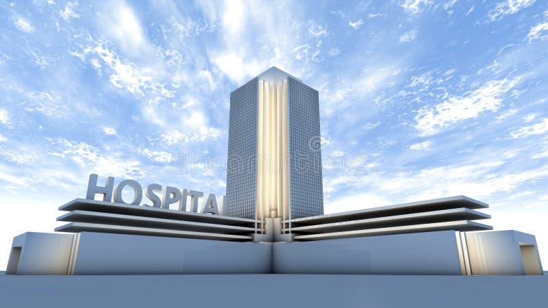 Sjukhusbyggnad stock illustrationer