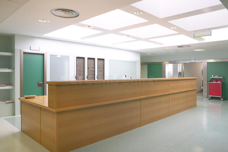 Sjukhushall- och barnkammarestation royaltyfri fotografi