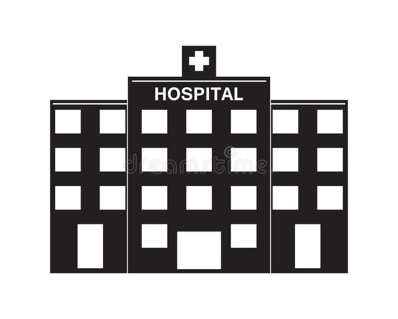 Sjukhuslogo och symbolmall royaltyfri illustrationer