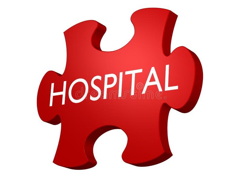 sjukhuspussel royaltyfri illustrationer